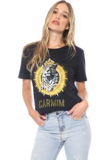 Camiseta Carmim Golden Ounce Azul-Marinho