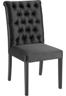 Cadeira Eli 1104 Com Capitone Preto Daf