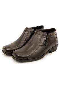 Sapato Botina Masculino Social Zíper Em Couro Br2 Footwear Café