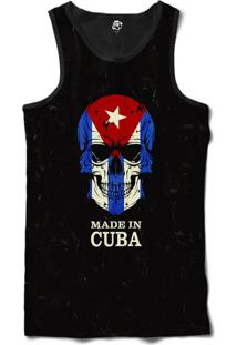 Regata Bsc Caveira País Cuba Sublimada Preto - Tricae
