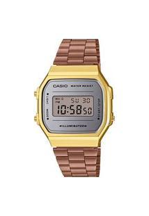 Relógio Casio Digital Vintage - A168Wecm-5Df-Sc Dourado