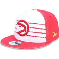 f84945ea64ad7 Boné 950 Atlanta Hawks Nba Aba Reta Snapback New Era -  Masculino-Branco+Vermelho