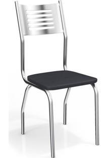 Cadeira Munique 2 Peças Crome Preto