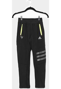 Calça Infantil Adidas K Str Yb Masculina - Masculino-Preto+Prata
