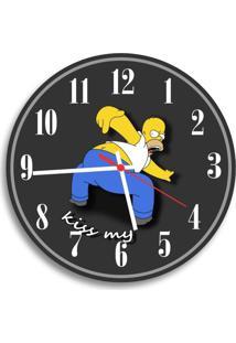 Relógio De Parede Decorativo Homer Simpson Kiss My Único