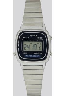 Relógio Digital Casio Feminino - La670Wa2Df Prateado
