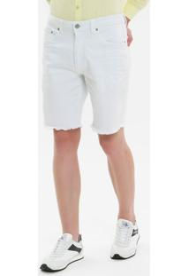 Bermuda Color Five Pockets - Branco - 40