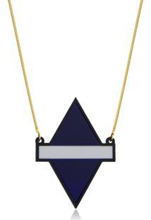 Colar Le Diamond Losango De Acrilico - Kanui