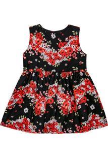 Vestido Em Tricoline Dominika - Missfloor 14Cl0002.371 Vestido Regata C/Laço - Tricoline-3