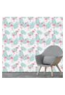 Papel De Parede Adesivo - Flamingos - Folhas - 074Pps