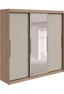 Guarda-Roupa Casal Com Espelho Taurus Flex 3 Pt 6 Gv Carvalho E Off White