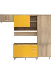Cozinha Compacta Multimóveis Sicília 5838.132.695 Argila Amarelo Se