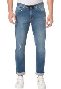 Calça Jeans Five Pocktes Athletic Taper Ckj 056 Athletic Taper - Azul Médio - 40