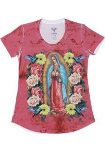 Camiseta Black Angus Nossa Senhora De Guadalupe Feminina - Feminino-Rosa
