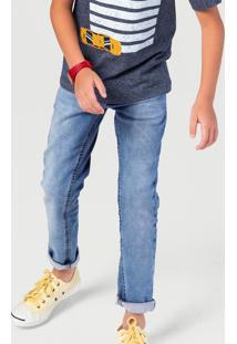 Calça Jeans Infantil Menino Skinny Com Lavação Hering Kids