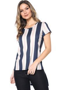 Camiseta Lança Perfume Mullet Rosa/Azul-Marinho