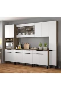 Cozinha Compacta Itamaxi I 14 Pt 4 Gv Branca E Castanho