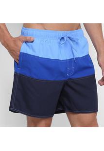 Short Adidas Color-Block Masculino - Masculino-Azul+Preto