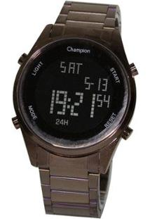 Relógio Champion Digital Ch40231R - Unissex-Marrom