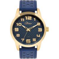 05d2734a6b7 Relógio Condor Masculino Couro - Co2036Kum 2A Co2036Kum 2A - Masculino-Azul