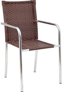 Cadeira Aluminio C/ Fibra C115 – Alegro Móveis. - Castanho