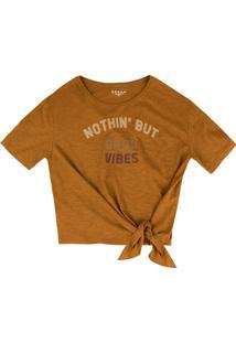 Camiseta Dzarm Nothin Marrom