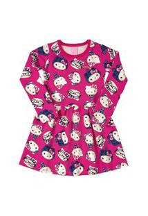 Vestido Hello Kitty Infantil Rosa