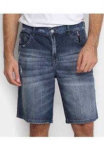 Bermuda Ellus 2Nd Floor Sapphire Elastic Adam Masculina - Masculino-Jeans