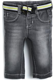 Calça Jeans Tigor T. Tigre Menino Cinza