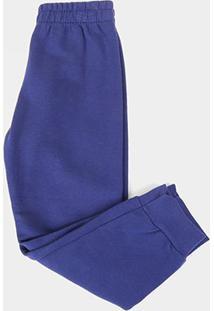 Calça Infantil Kyly Com Punho Masculina - Masculino-Azul Escuro