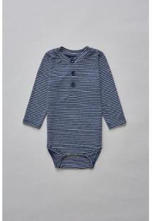 Body Bebê Reserva Mini Linho Mar Ml Masculino - Masculino-Marinho