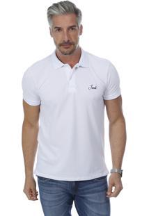 Camisa Polo Javali Mullet Bordado Branca f1720dc605adf