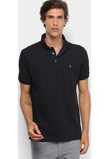 Camisa Polo Foxton Poá Masculina - Masculino-Preto 14d8f5272b4a4
