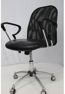 Cadeira Office Outlet Flex Estofada Baixa Preta Cromada - 10 - Sun House