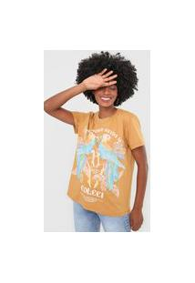 Camiseta Colcci Araras Bege