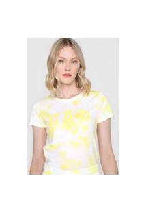 Camiseta Gap Tie Dye Amarela/Branca