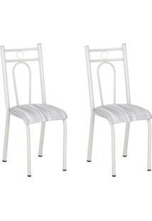 Conjunto 2 Cadeiras Hanumam Branco E Linho