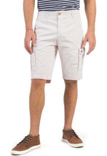 Bermuda Cargo Taco Masculina - Masculino-Branco