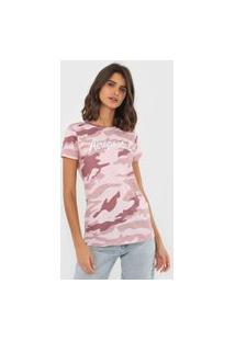 Camiseta Aeropostale Militar Rosa