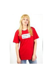Camiseta Kissa By Valley Feminina Vermelha