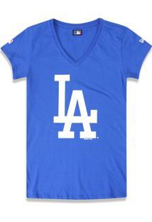 T-Shirt New Era Baby Look Los Angeles Dodgers Royal