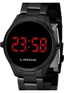 Relógio Lince Digital Feminino - Feminino-Preto