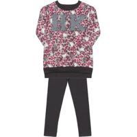 f7a9f09109 Conjunto Infantil Blusão E Calça Hello Kitty Feminino - Feminino-Rosa+Preto