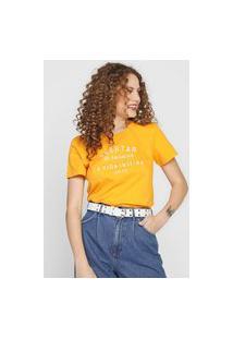 Camiseta Colcci Acertar Amarela