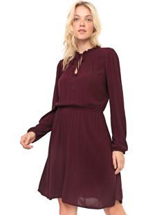 Vestido De Inverno De Inverno Gap Curto Acinturado Bordã´ - Bordã´ - Feminino - Viscose - Dafiti