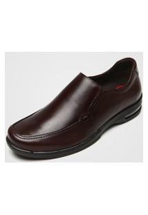 Sapato Social Democrata Elástico Marrom