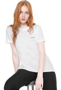 Camiseta Calvin Klein Logo Off-White