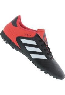 691090703de Chuteira Society Adidas Copa Tango 18.4 Tf - Adulto - Preto Branco