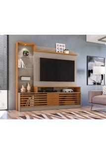 Estante Para Home Theater E Tv Até 55 Polegadas Frizz Prime Fendi E Naturale
