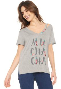 Camiseta Lez A Lez Muchacha Cinza